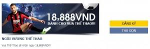 Trở thành Vua thể thao M88, nhận ngay 18,888,000 VND