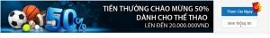 Tiền thưởng chào mừng CMD368 tại thể thao 50% lên tới 20,000,000 VND