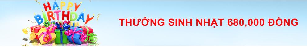 138.com thưởng sinh nhật thành viên 680,000 VND