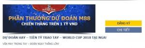 Dự đoán World Cup 2018 cùng M88, cơ hội nhận tiền tỷ