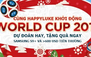 Vui World Cup 2018 cùng nhà cái Happyluke