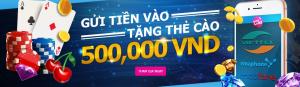 Happyluke tặng thẻ cào điện thoại lên tới 500,000 VND khi gửi tiền