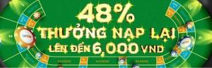 Letou thưởng 48% nạp lại lên đến 6,000,000 VND